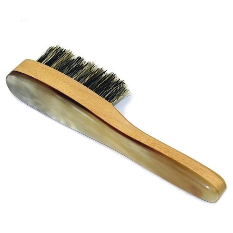 Abbeyhorn Wood, Bristle and Natural Horn Beard Brush Beard Brush Abbeyhorn