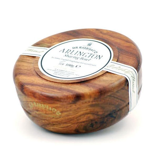 D.R. Harris Arlington Shaving Soap in Mahogany Color Wood Bowl - Fendrihan
