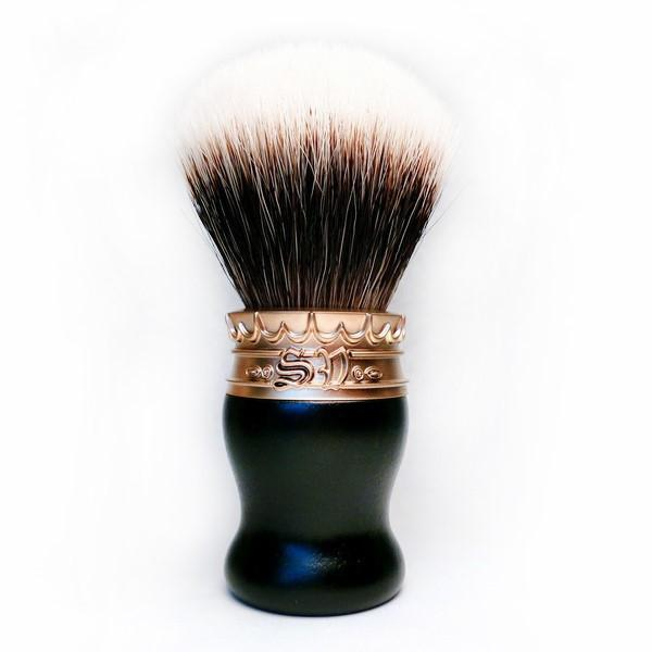 Saponificio Varesino High Mountain White Badger Shaving Brush, Ebony with Golden Pewter Badger Bristles Shaving Brush Saponificio Varesino