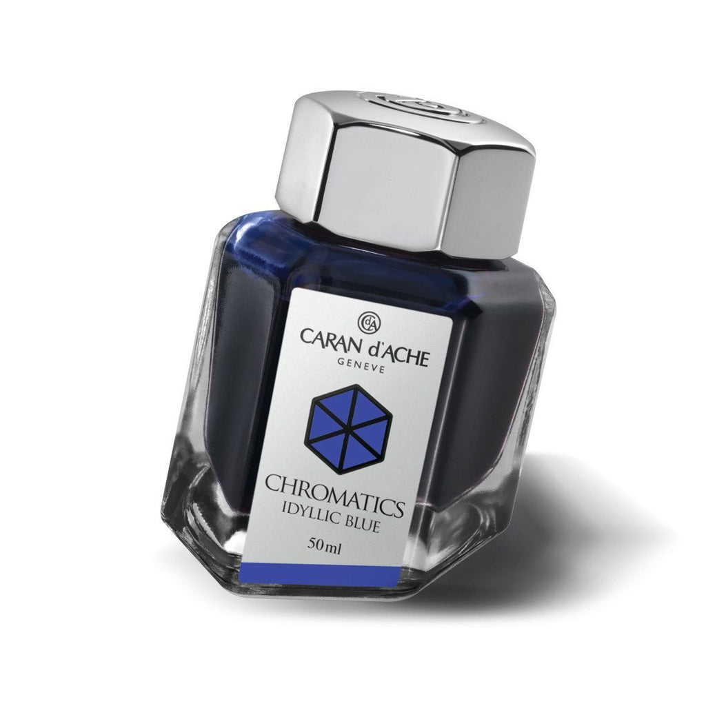 Caran d'Ache Idyllic Blue Ink Bottle - Fendrihan