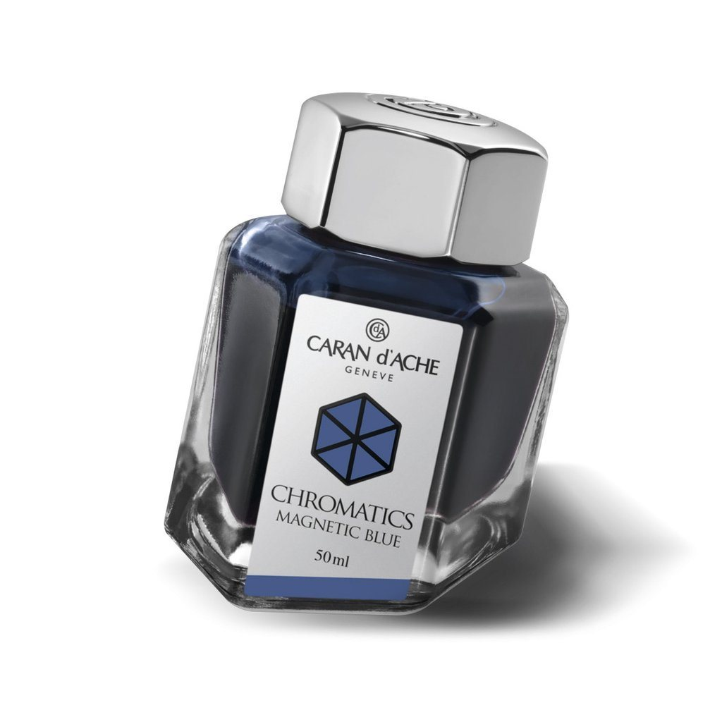 Caran d'Ache Chromatics Fountain Pen Ink Bottles Ink Refill Caran d'Ache Magnetic Blue