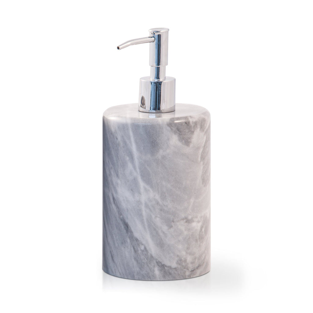 Fiammetta V Circle Marble Soap Pump Dispenser Soap Dispenser Fiammetta V Grey Bardiglio