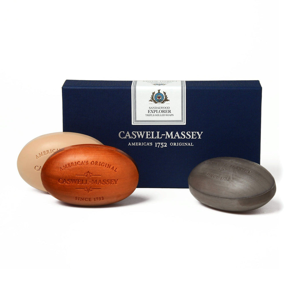 Caswell-Massey Sandalwood Explorer Three Soap Set Body Soap Caswell-Massey