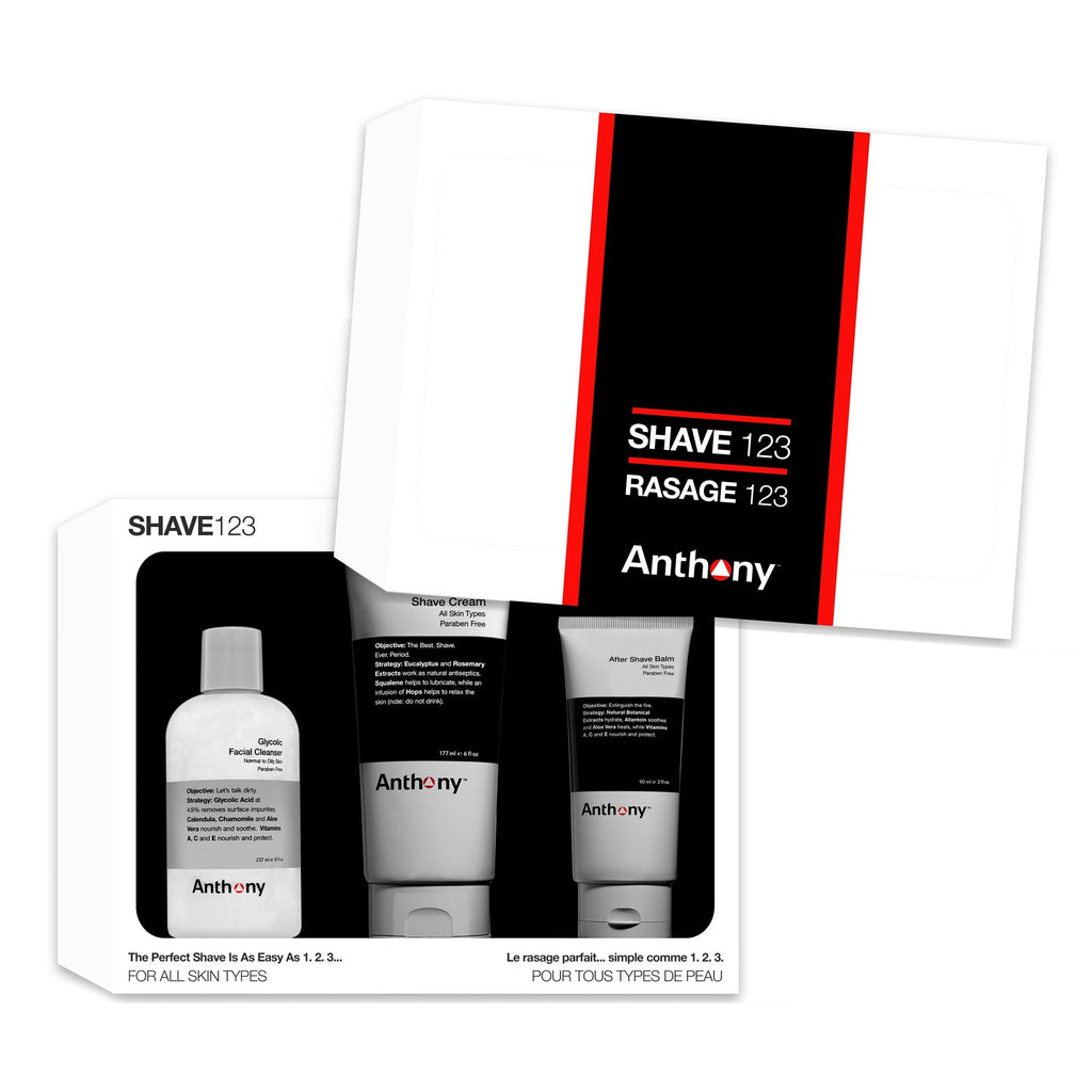 Anthony Shave 123 Kit Men's Grooming Kit Anthony