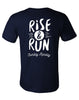 Runkeeper Men's - 'Rise & Run' Short Sleeve TeeNavy_alt_2