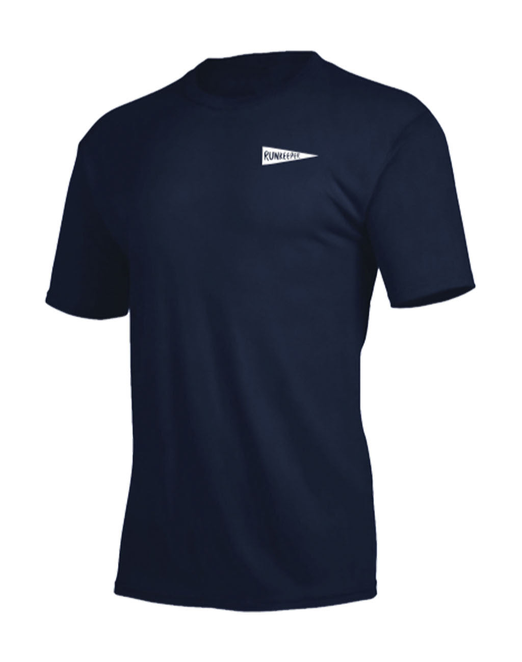 Runkeeper Men's - 'Rise & Run' Short Sleeve TeeNavy_master_image