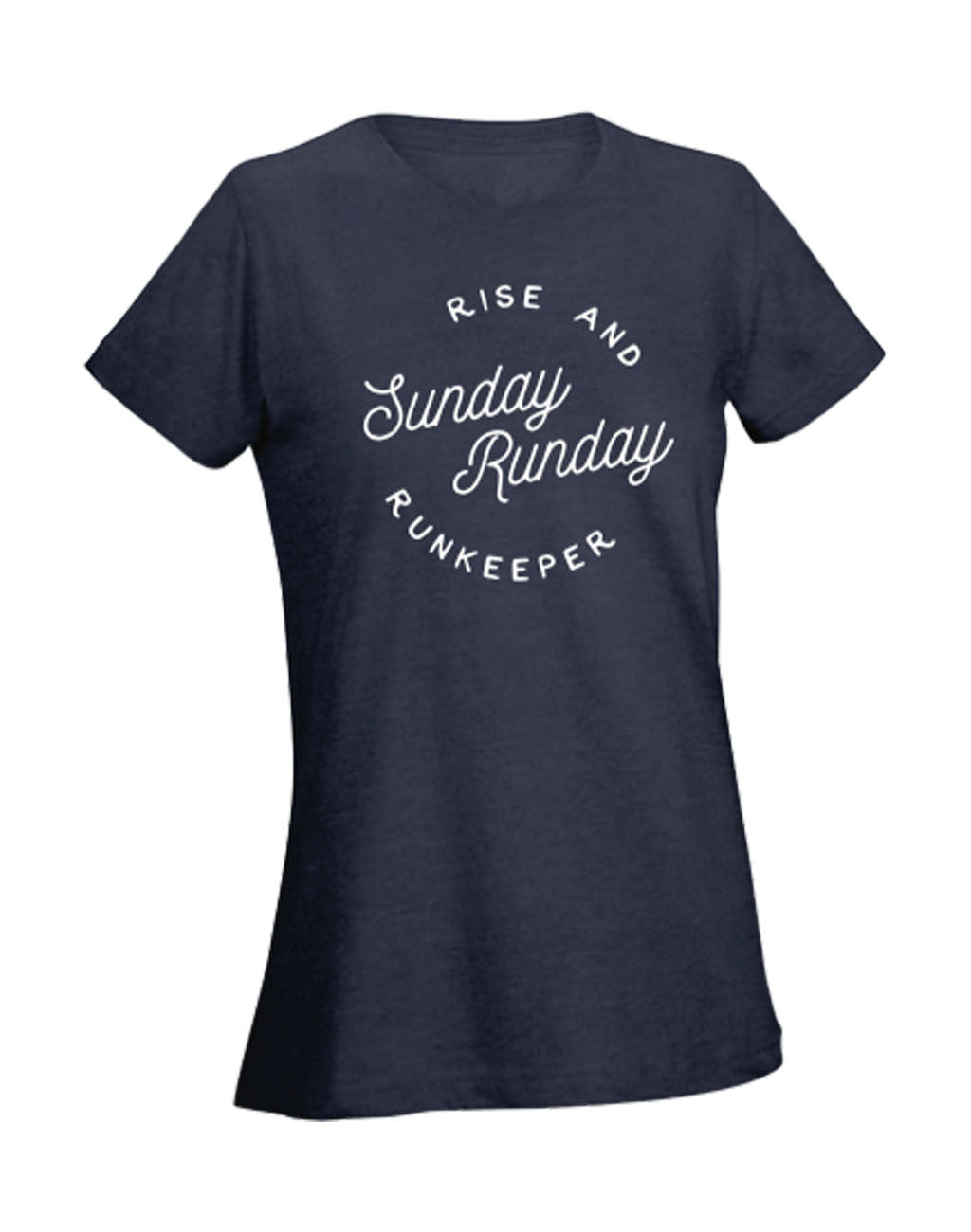Women's - 'Sunday Runday' Short Sleeve Tee Women's T-Shirt - Runkeeper Official StoreNavy_master_image