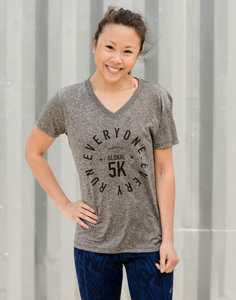 Global 5K - Women's '5K Badge' Performance Tee