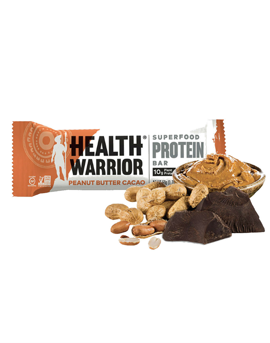 Health Warrior Superfood Protein Bars (12ct box)Peanut Butter Cacao_master_image