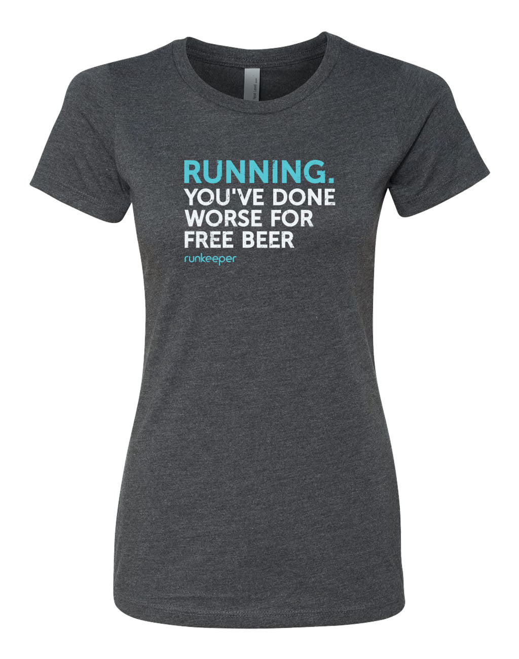 Runkeeper You've Done Worse for Free Beer TeeCharcoal_master_image