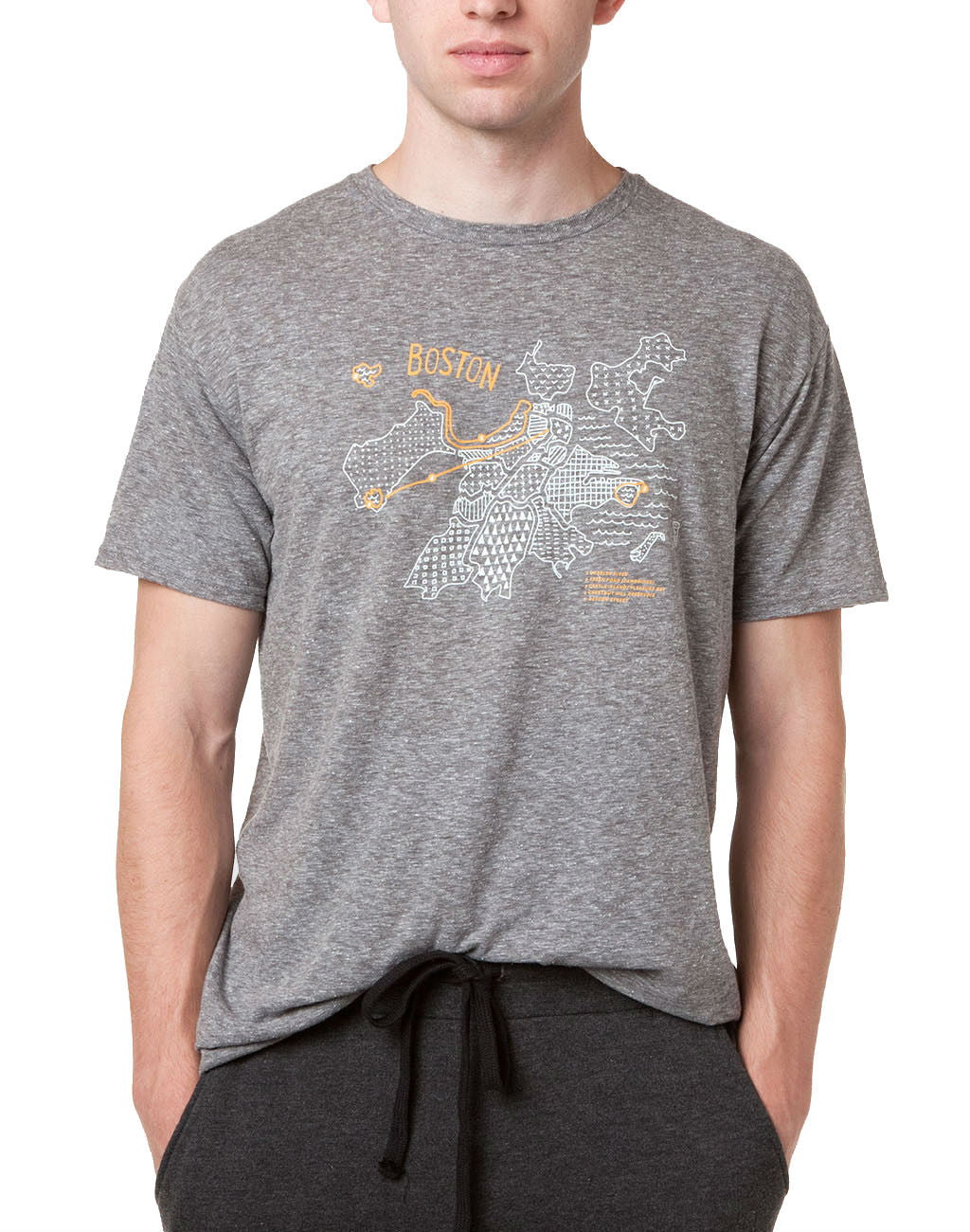 Runkeeper Boston is for Runners Tee (Men's)Heather Grey_master_image