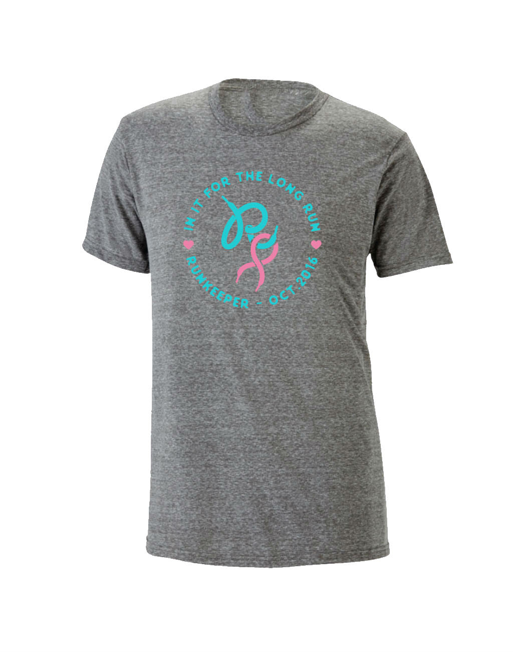 The Long Run Tee for Cancer Awareness (Pink Ribbon)