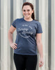 Women's - 'Sunday Runday' Short Sleeve Tee Women's T-Shirt - Runkeeper Official StoreNavy_alt_2