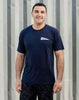 Runkeeper Men's - 'Rise & Run' Short Sleeve TeeNavy_alt_3