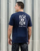 Runkeeper Men's - 'Rise & Run' Short Sleeve TeeNavy_alt_4