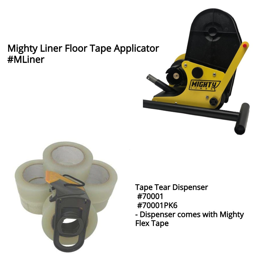 Mighty Liner Floor Tape Applicator - Tape Tearer Tape Dispenser - Universal Tape Dispensers