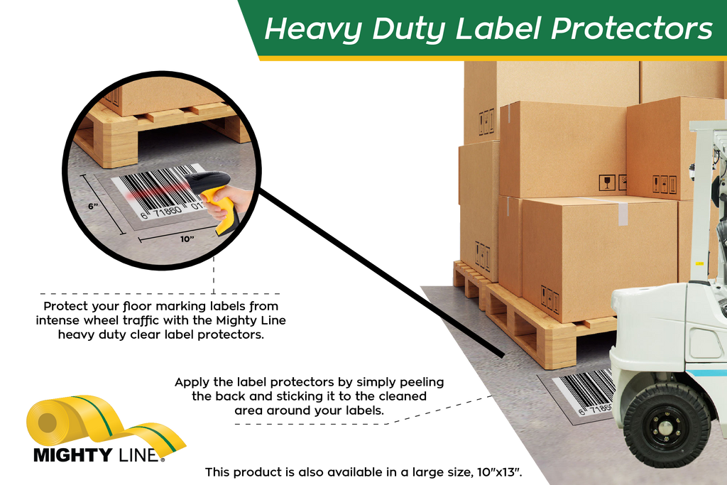 Jumbo Mighty Line Heavy Duty Clear Label Protectors