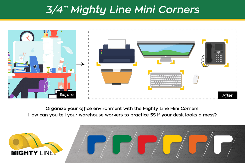Mighty Line Floor Tape Mini Corners