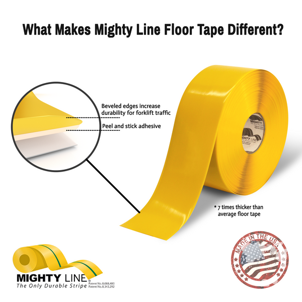 Mighty Line Safety Floor Tape - Solid   Mighty Line Safety Floor Tape