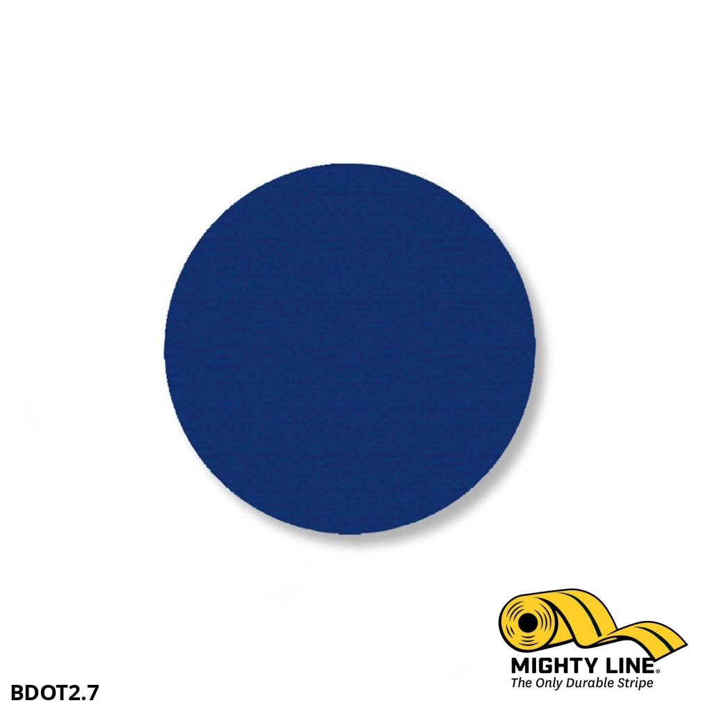 2.7 Blue Solid Dot - Pack Of 100 Floor Marking Product