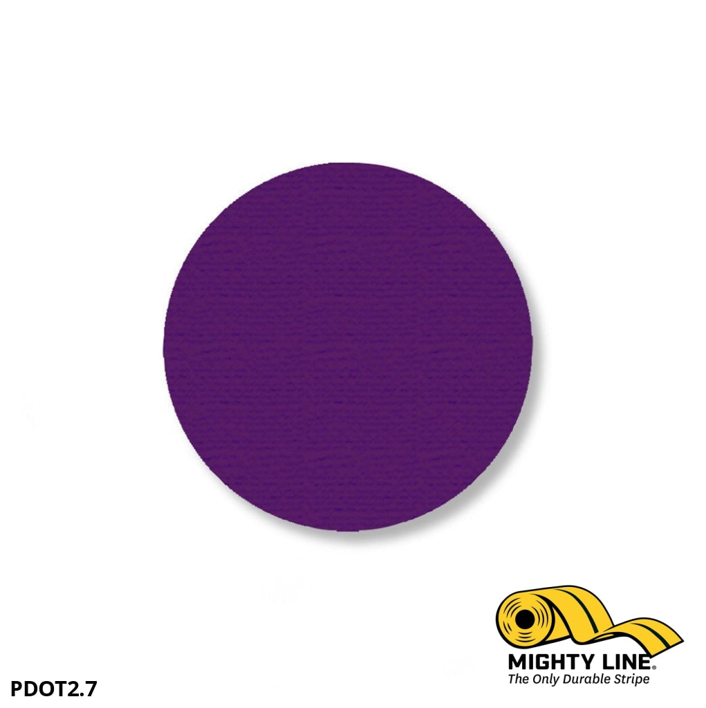 2.7 Purple Solid Dot - Pack Of 100 Floor Marking Product
