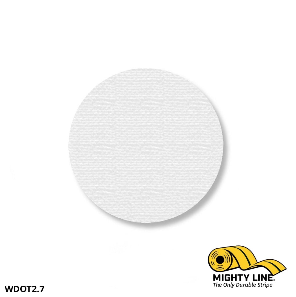 2.7 White Solid Dot - Pack Of 100 Floor Marking Product