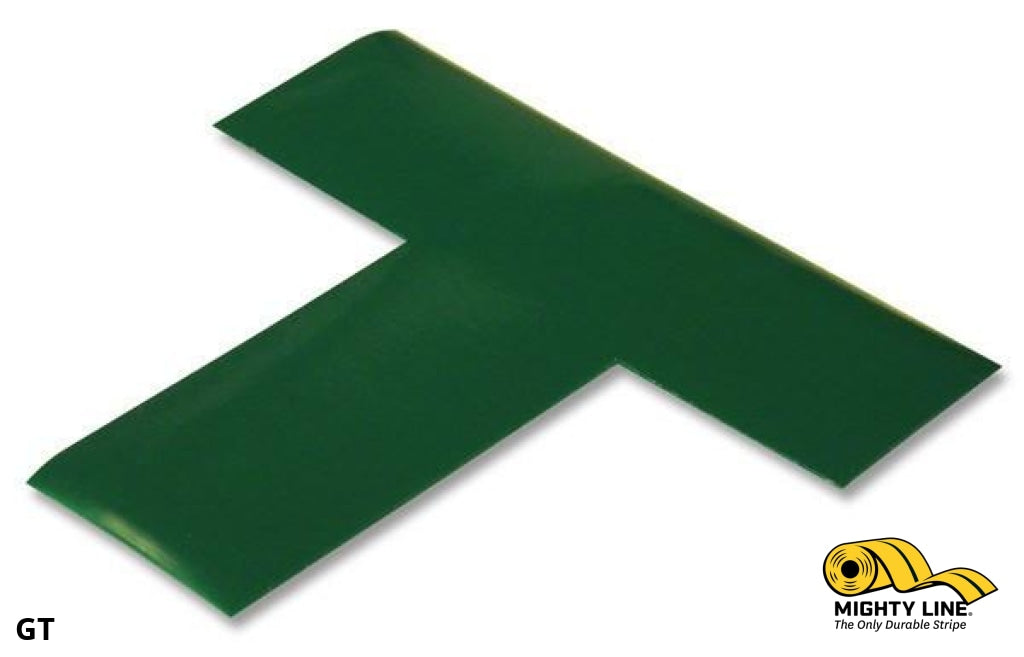 2 Wide Solid Green T - Pack Of 100 Floor Tape & Marking Product