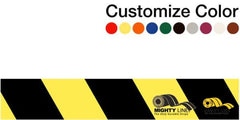 Customized - 3 Repeating Message Floor Tape With Black Diagonals 1 Roll