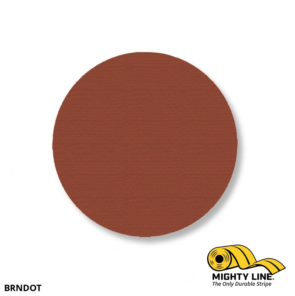 3.5 Brown Solid Dot- Stand. Size - Pack Of 100 Floor Marking Product