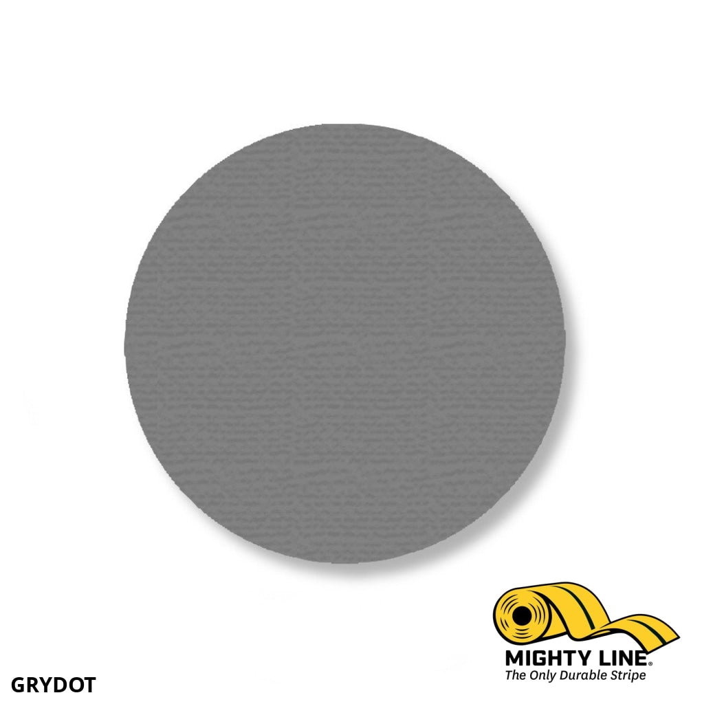 3.5 Gray Solid Dot - Stand. Size Pack Of 100 Floor Marking Product