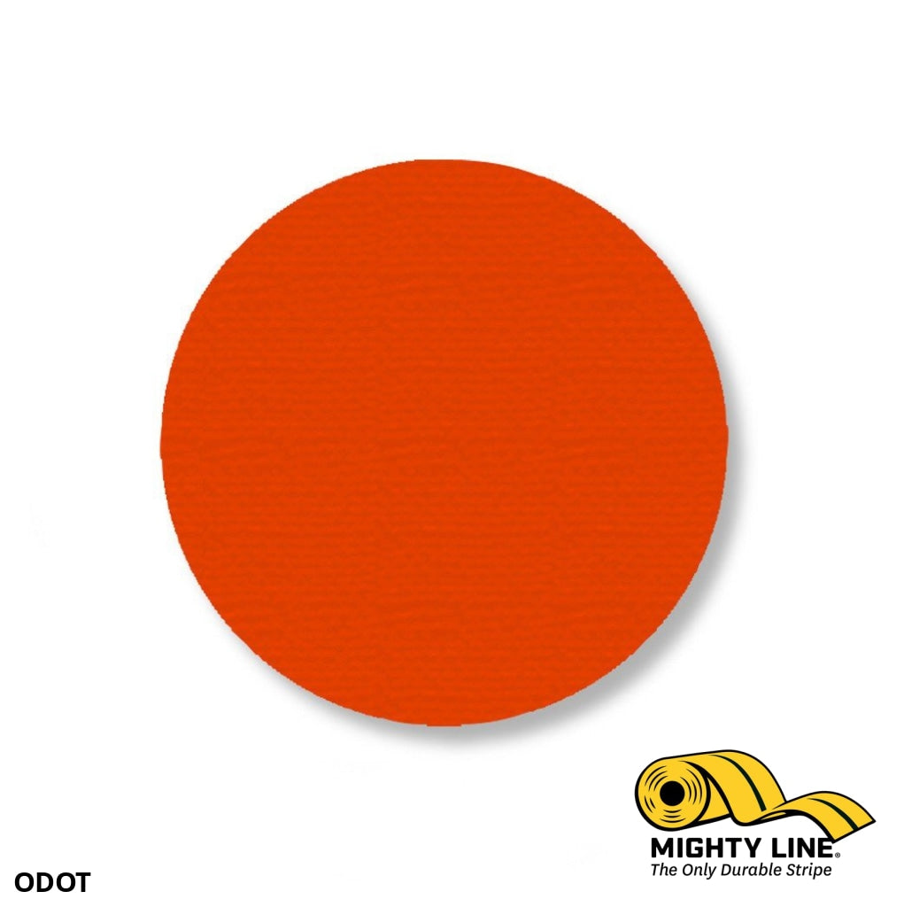 3.5 Orange Solid Dot - Pack Of 100 Floor Marking Product