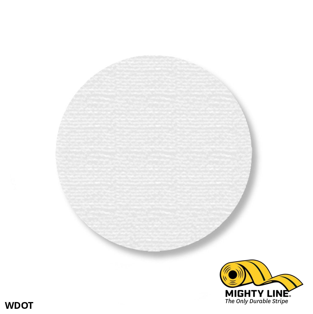 3.5 White Solid Dot - Stand. Size Pack Of 100 Floor Marking Product
