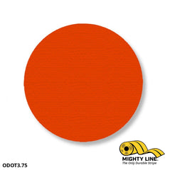 3.75 Orange Solid Dot - Pack Of 100 Floor Marking Product