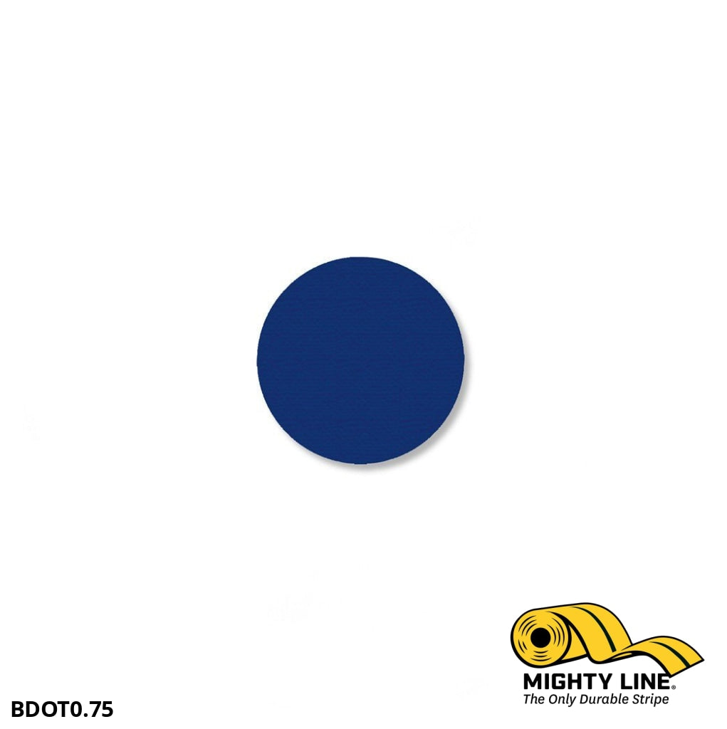3/4 Blue Solid Dot - Pack Of 200 Floor Marking Product