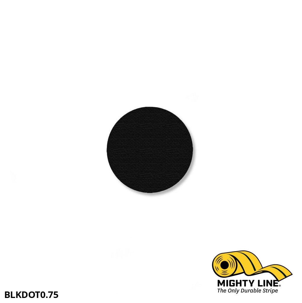 3/4 Black Solid Dot - Pack Of 200 Floor Marking Product