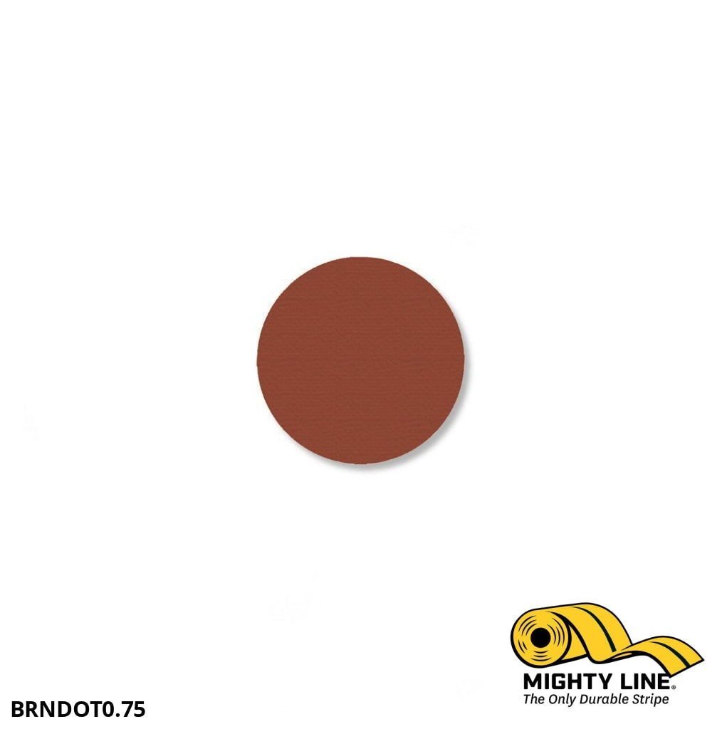 3/4 Brown Solid Dot - Pack Of 200 Floor Marking Product