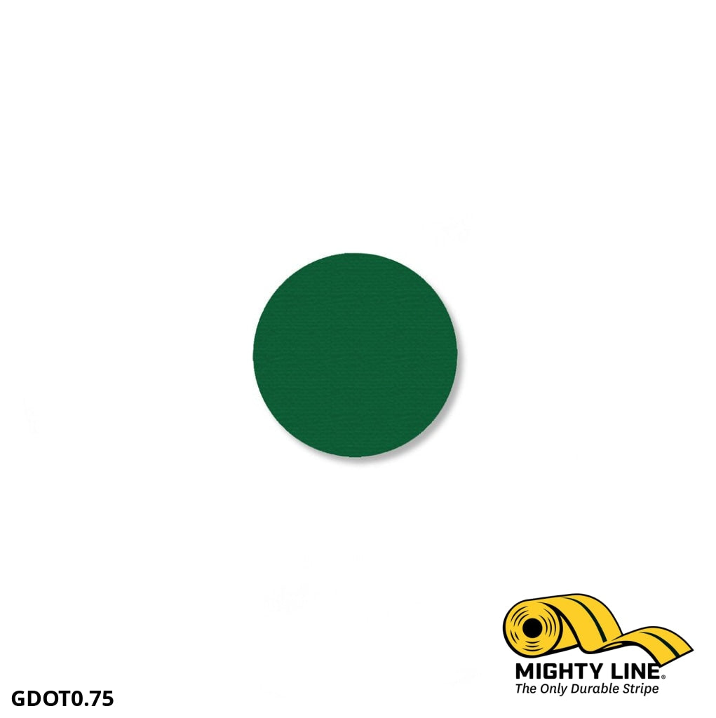 3/4 Green Solid Dot - Pack Of 200 Floor Marking Product
