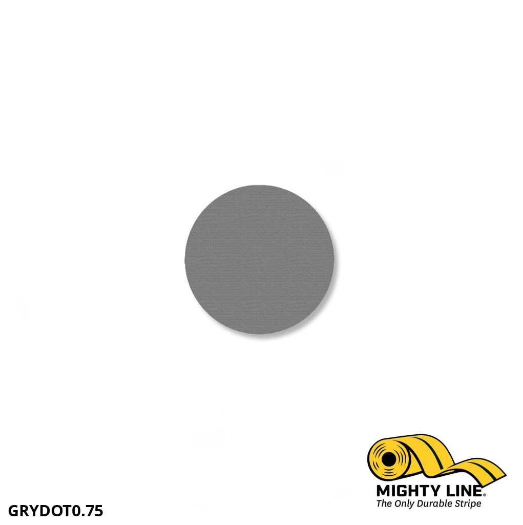 3/4 Gray Solid Dot - Pack Of 200 Floor Marking Product
