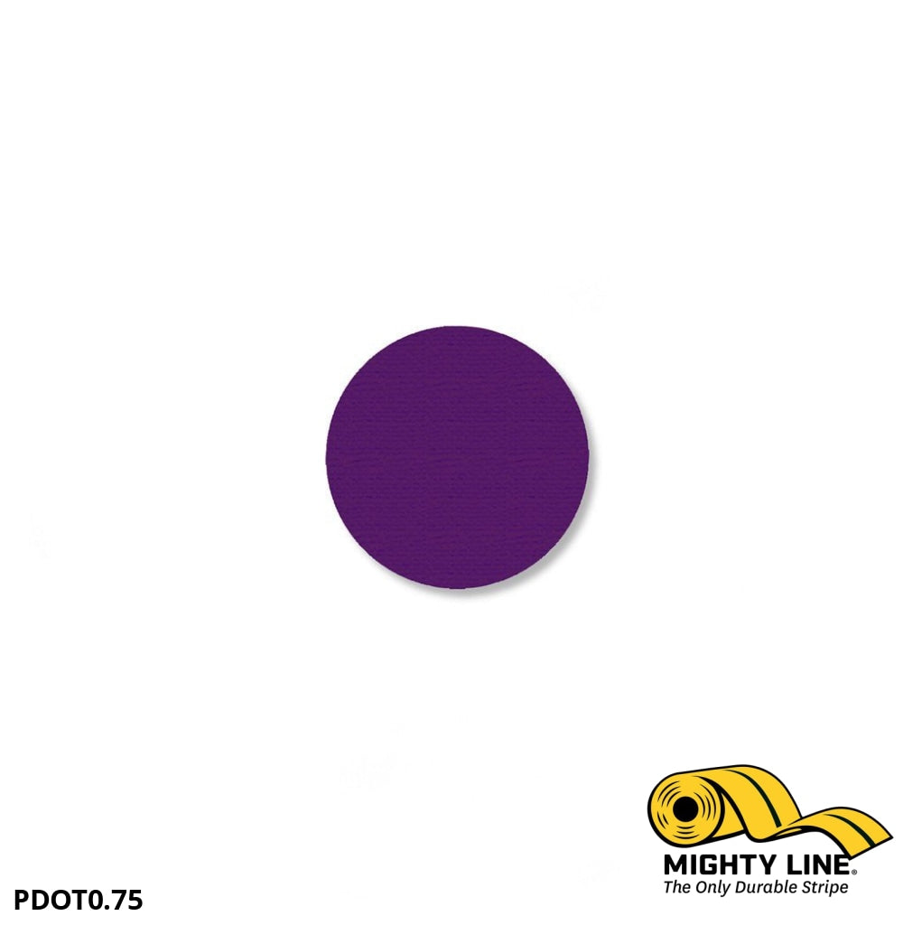 3/4 Purple Solid Dot - Pack Of 200 Floor Marking Product