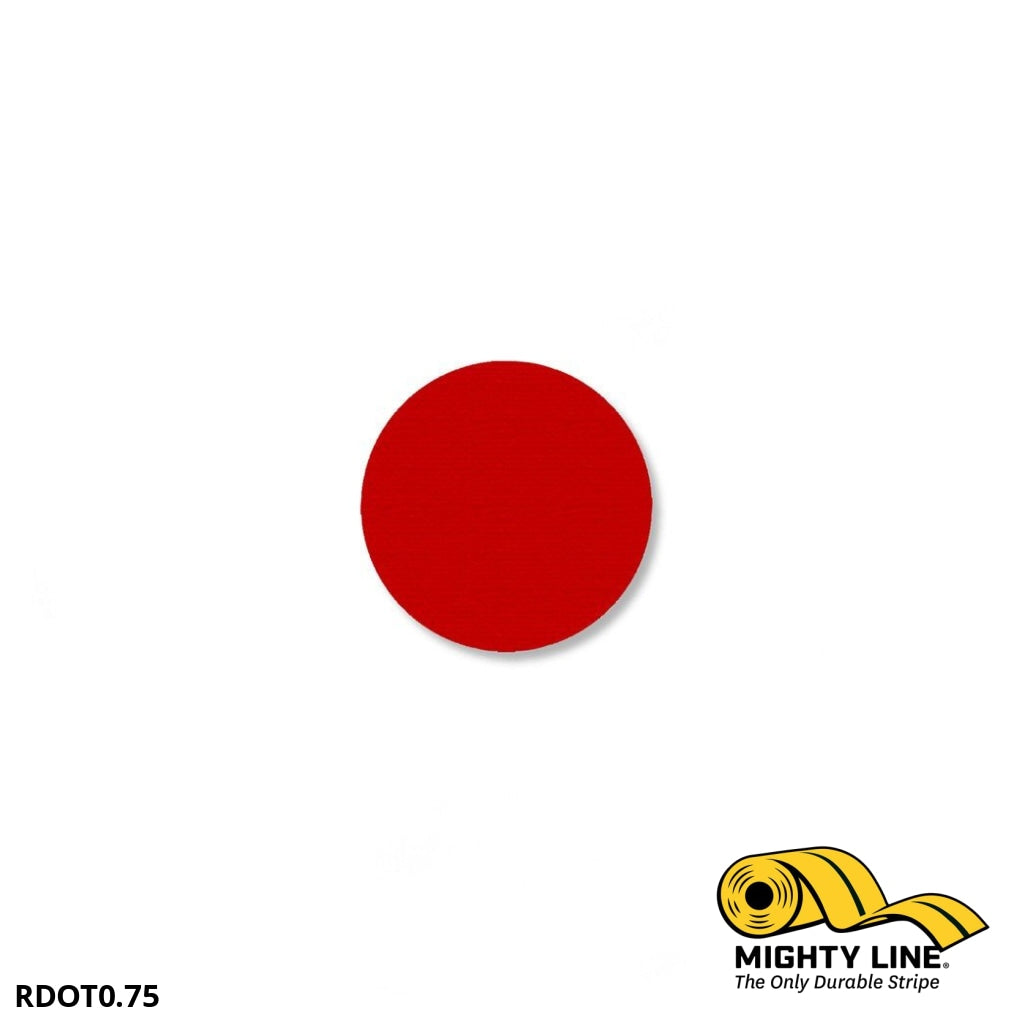 3/4 Red Solid Dot - Pack Of 200 Floor Marking Product