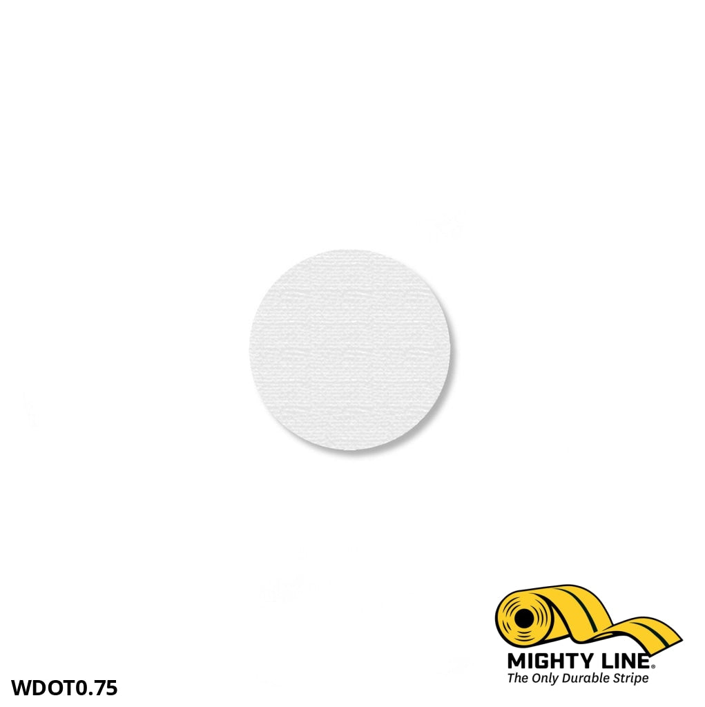3/4 White Solid Dot - Pack Of 200 Floor Marking Product