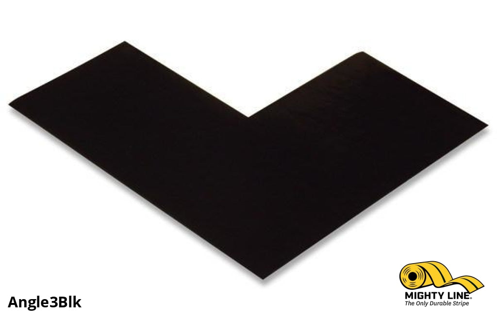 3 Wide Solid Black Angle - Pack Of 100 Floor Tape & Marking Product