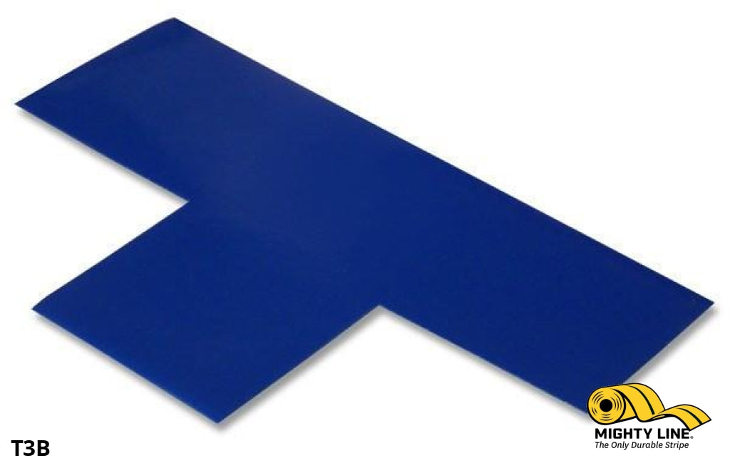 3 Wide Solid Blue T - Pack Of 100 Floor Tape & Marking Product