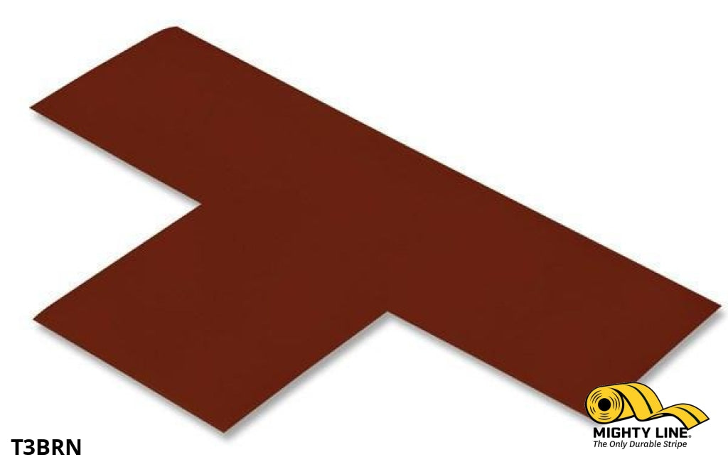 3 Wide Solid Brown T - Pack Of 100 Floor Tape & Marking Product