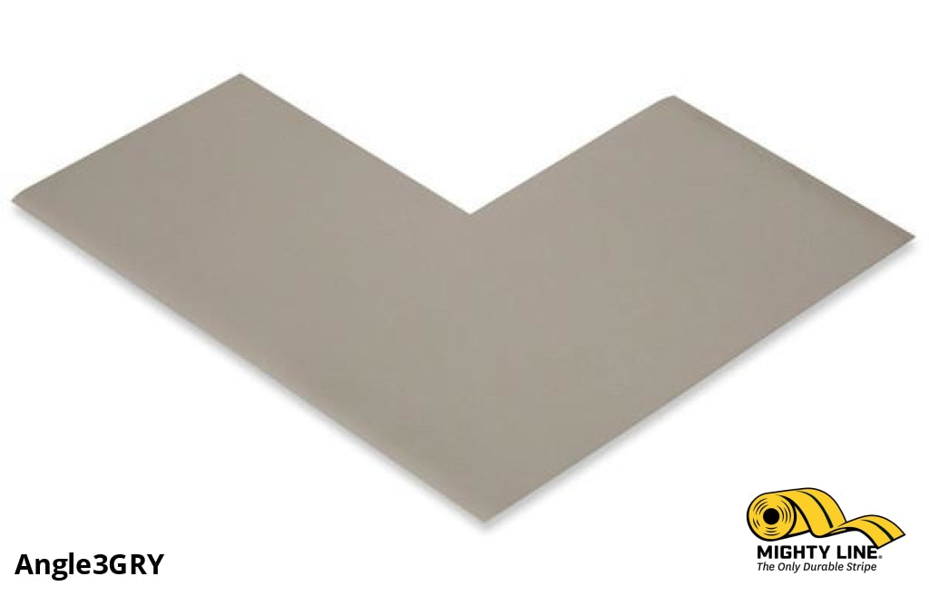 3 Wide Solid Gray Angle - Pack Of 100 Floor Tape & Marking Product