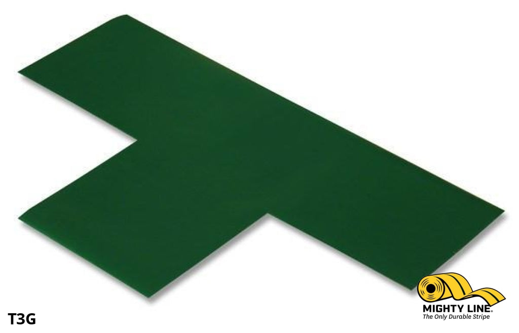 3 Wide Solid Green T - Pack Of 100 Floor Tape & Marking Product