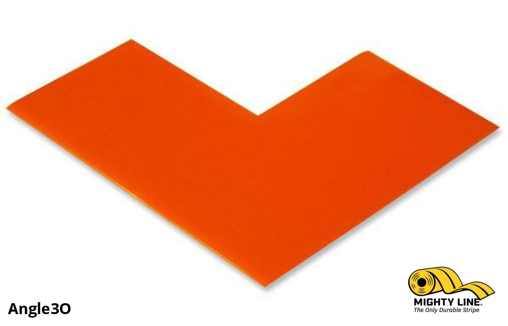 3 Wide Solid Orange Angle - Pack Of 100 Floor Tape & Marking Product