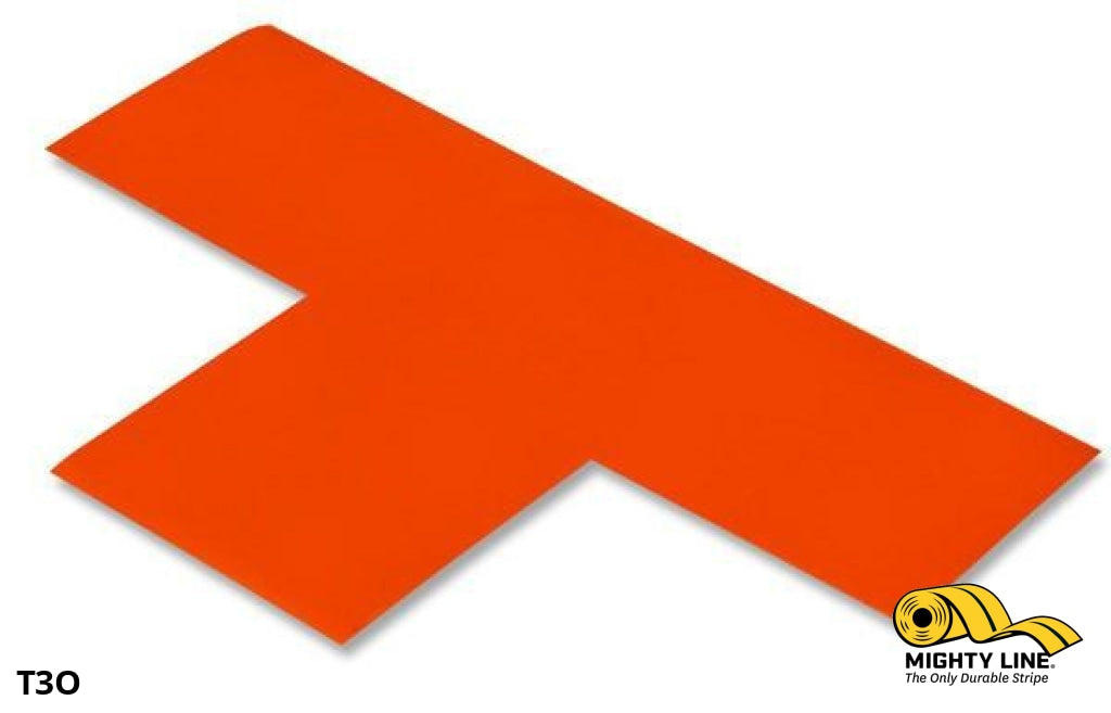 3 Wide Solid Orange T - Pack Of 100 Floor Tape & Marking Product