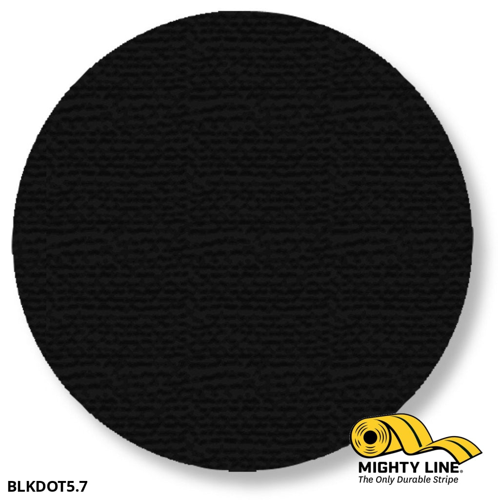 5.7 Black Solid Dot - Pack Of 100 Floor Marking Product