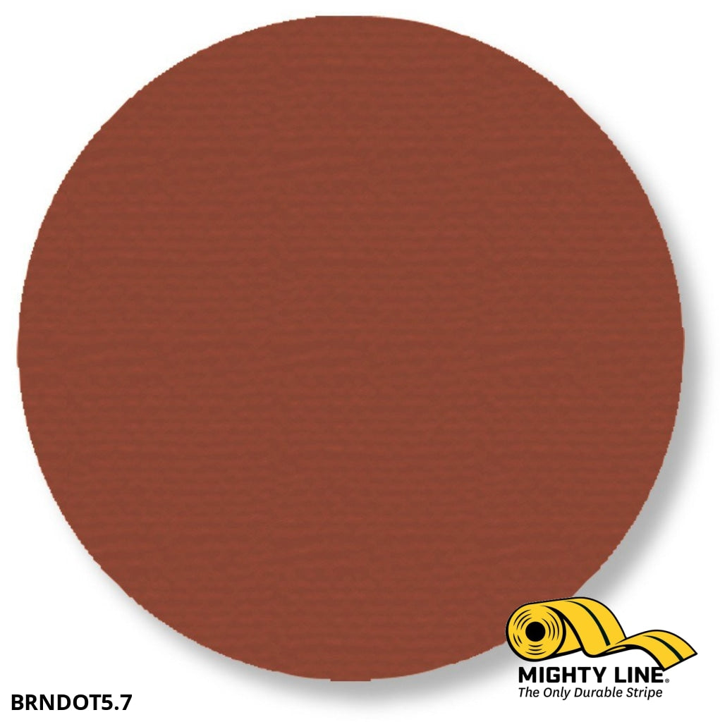 5.7 Brown Solid Dot - Pack Of 100 Floor Marking Product